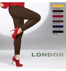 Collant opaque sans pied legging grande taille 60 deniers Cette London noir et couleur