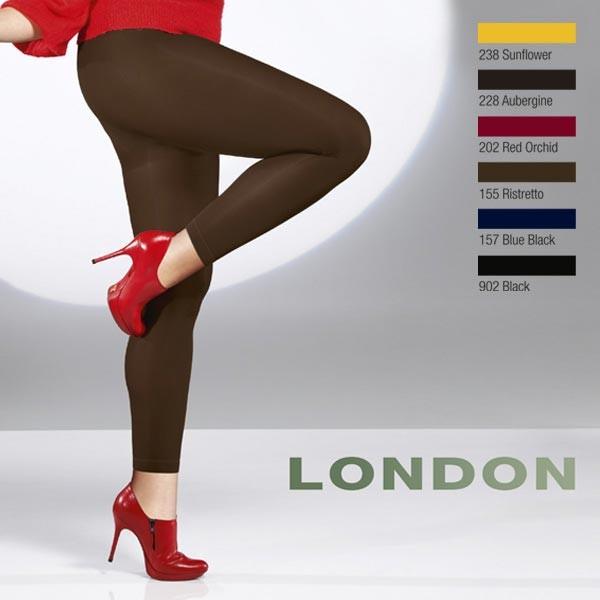 Collant opaque sans pied legging 60 deniers Cette London noir et couleur c2e0626361d
