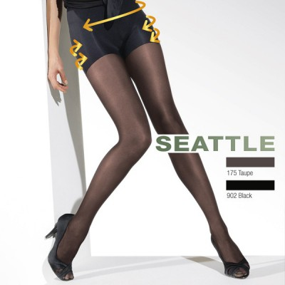 Collant gainant grande taille culotte intégrée du 46 au 62 noir ou taupe