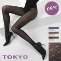 Collant opaque fantaisie à motifs carrés 50 deniers Cette Tokyo