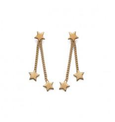 Boucles d'oreille étoiles plaqué or