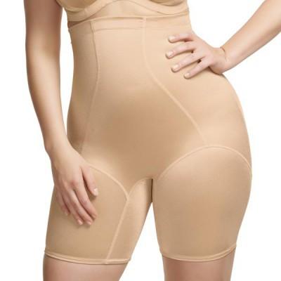 gaine panty elomi curve couleur peau depuis sous poitrine a mi cuisses