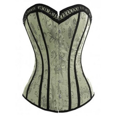 Corset arabesque en satin damassé Flower Kit Chic