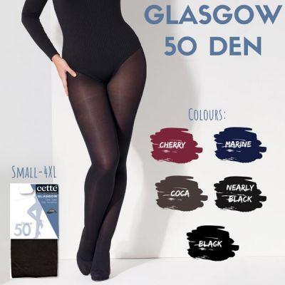 Collant lycra satiné noir 50 deniers multifibre Cette Glasgow