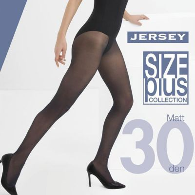 Collant mat grande taille semi-opaque extensible 30 deniers Cette Jersey
