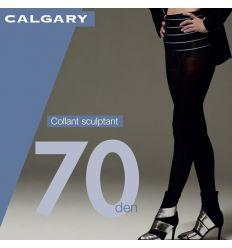 Collant opaque sculptant grande taille satiné noir 70 deniers Cette Calgary