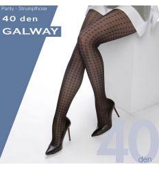 Collant semi-opaque grande taille motifs carreaux noir 40 deniers Cette Galway
