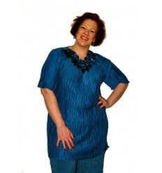 Tunique plissée bleu