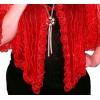 Veste Poncho rouge en Tulle Brodé